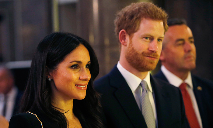<p>The couple watched on at the event.