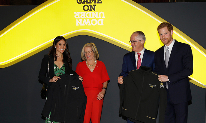 <p>Meghan and Harry were gifted official Invictus Games jackets by Malcolm Turnbull, Prime Minister of Australia, and his wife Lucy.