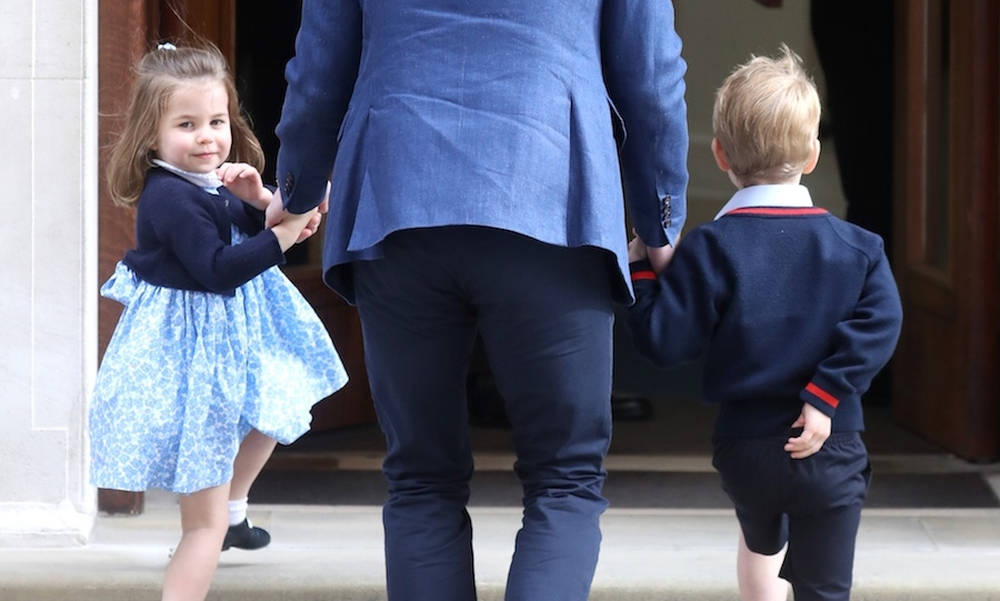 <p>The adorable Princess Charlotte gave the crowd a wave before entering the Lindo Wing.