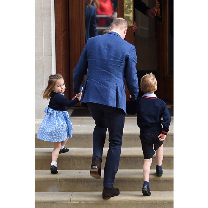 <p>The royal kids looked excited to meet their new sibling.