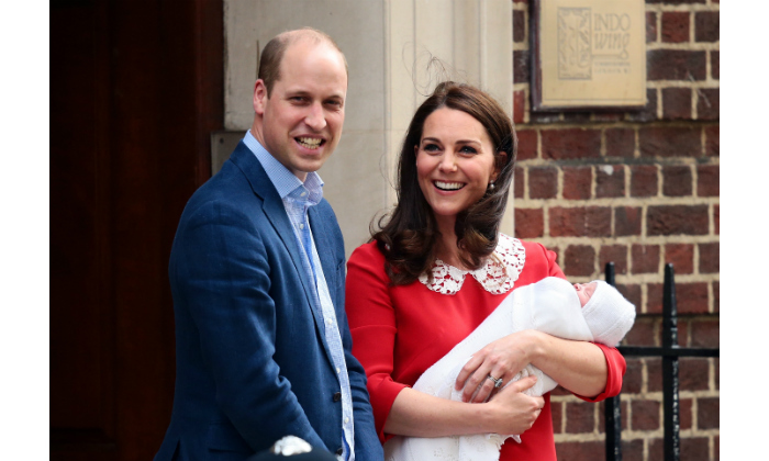 Prince William and Kate were the picture of happiness as they posed for pictures on the steps outside the hospital. Earlier in the day, Prince George and Princess Charlotte spent about 15 minutes meeting their baby brother before heading home.  
