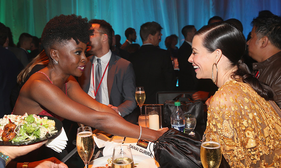 <p>Danai Gurira and Evangeline Lilly had a heart-to-heart while sitting at the same table.</p>