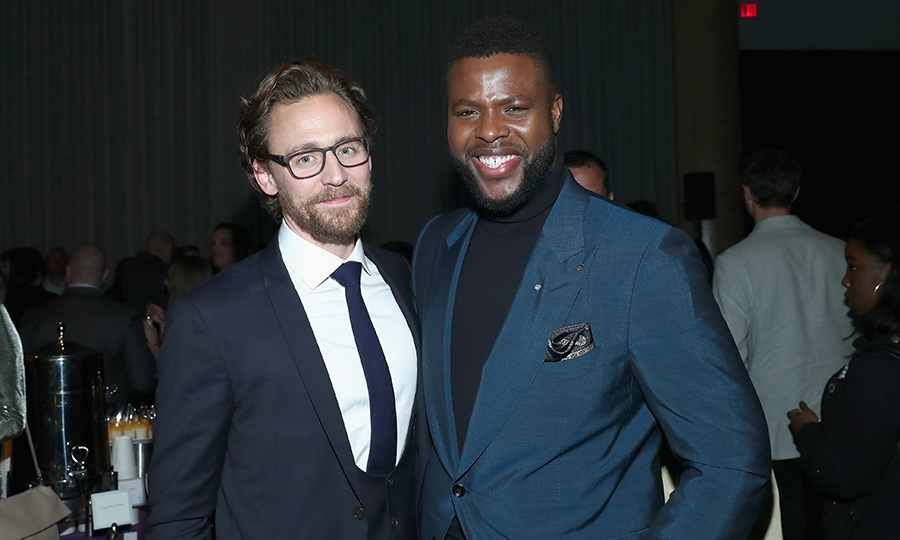 <p>Tom Hiddleston and Winston Duke were happy as clams at the premiere.</p>