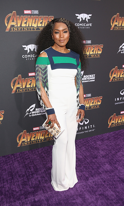 <p><em>Black Panther</em> actress Angela Bassett went with this gorgeous, colourful jumpsuit for the star-studded event.</p>