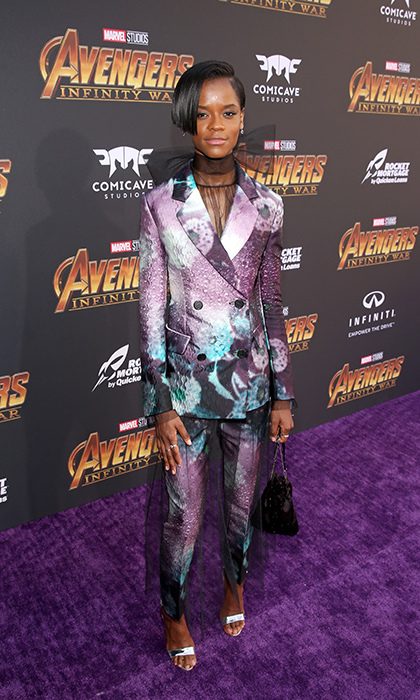 <p><em>Black Panther</em>'s Letitia Wright was the picture of cool in this stellar pantsuit.</p>
