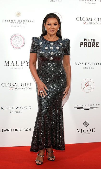 <p>The stunning Vanessa Williams glittered on the red carpet of The Nelson Mandela Global Gift Gala on April 24 in London.</p>