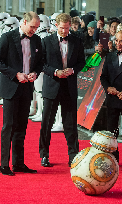 <p>The brothers shared a chance encounter with BB8 from <em>Star Wars</em>.</p>