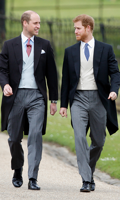 <p>The two dressed in their most dapper outfits for Pippa Middleton's wedding in 2017.</p>