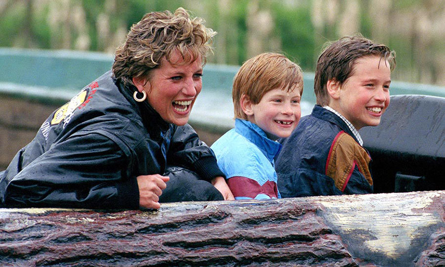 <p>Diana and her boys enjoyed a fun-filled day at Thorpe amusement park. Look at those cheeky grins!</p>