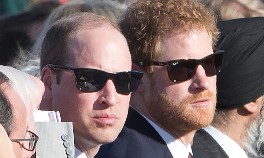 <p>The brothers wore matching pairs of Ray-Ban sunglasses at the 100th anniversary of the Battle of Vimy Ridge.</p>