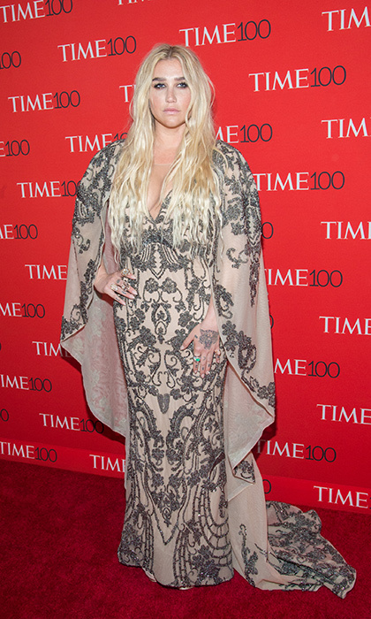 <p>Kesha stunned in an ornate caped gown by Canadian designer Mikael D at the Gala.</p>