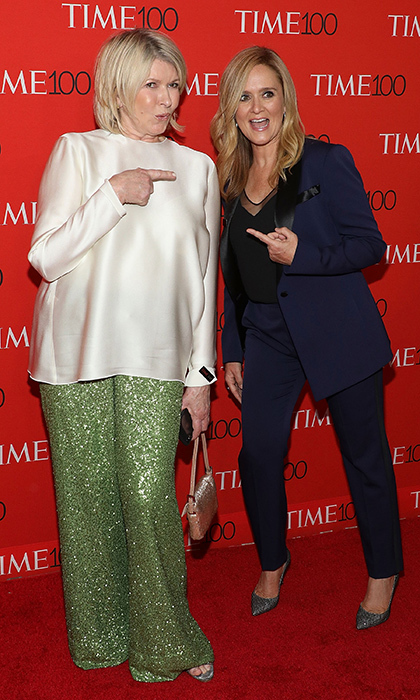 <p>Martha Stewart and Samantha Bee couldn't believe they ran into each other on the red carpet!</p>