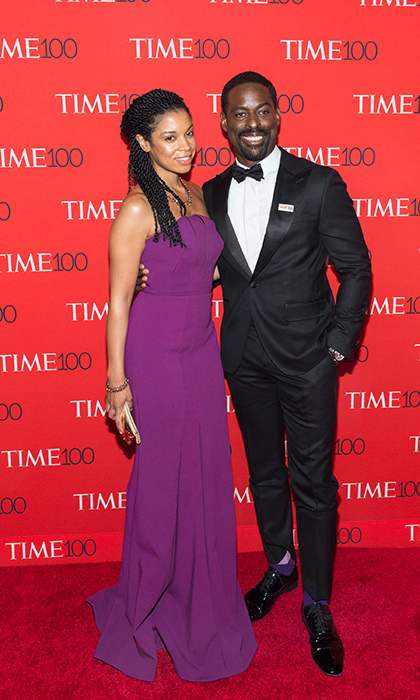 <p><em>This Is Us</em> stars Susan Kelechi Watson and Sterling K Brown stopped for a photo, too.</p>