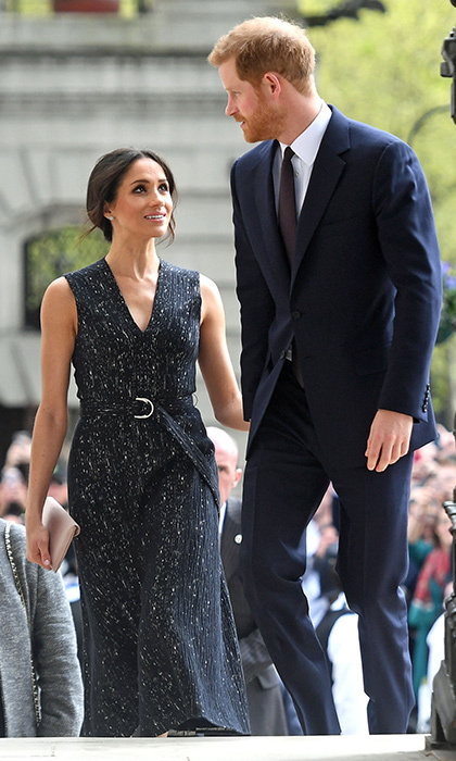 <p>Find someone who looks at you the way Meghan looks at Harry! The couple arrived hand in hand to a special memorial service celebrating the life and legacy of Stephen Lawrence on April 23.</p>