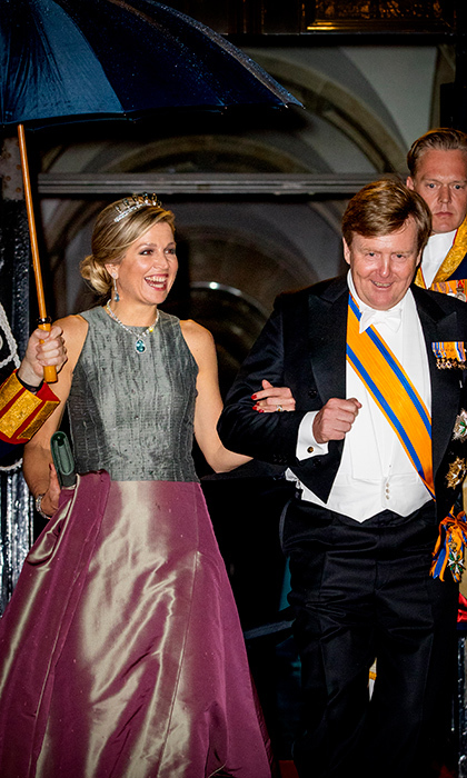 <p>King Willem-Alexander and Queen Maxima were happy as clams while leaving the Royal Palace Amsterdam on April 24.</p>