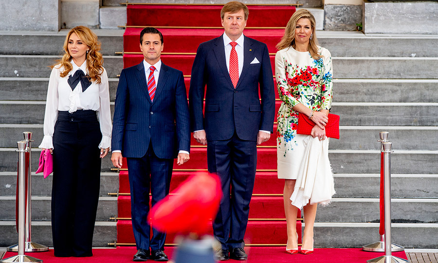 <p>King Willem-Alexander and Queen Maxima posed for a stylish photo with President Enrique Pena Nieto and Angelica Rivera de Pena of Mexico on April 24.</p>
