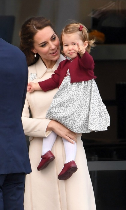 <p>Charlotte is a curious little girl, and her mom is always there to encourage her. The princess pointed at something as they made their grand exit from Canada during their royal tour of the country in 2016.</p>