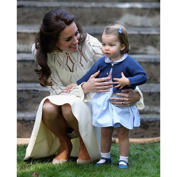 <p>Princess Charlotte is never far from her mom's side!</p>