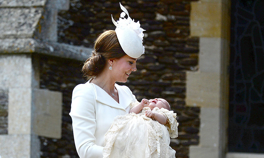 <p>Charlotte's christening was one for the books, and Kate couldn't keep a smile off her face.</p>