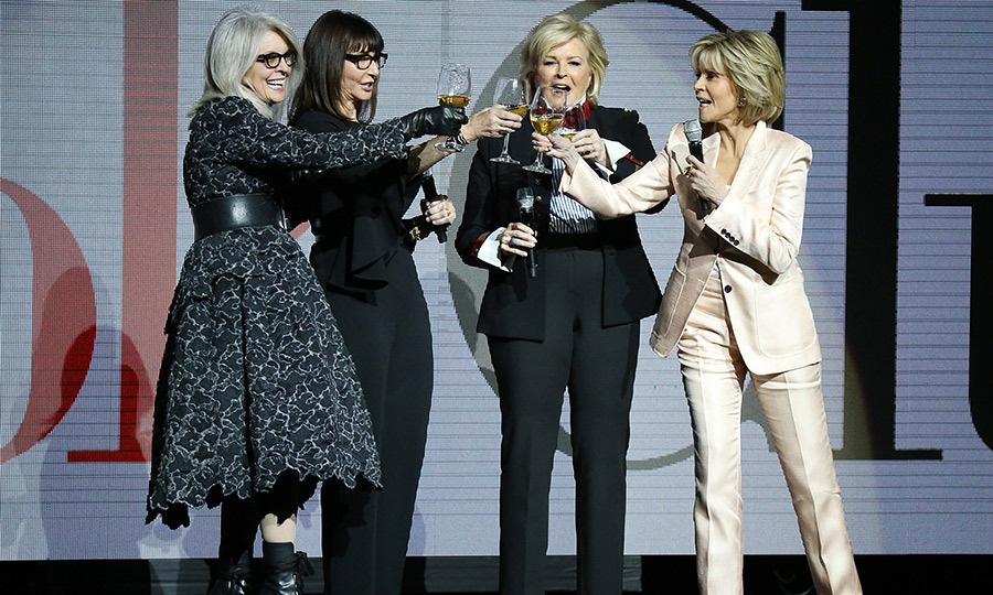 <p>Cheers! Four of Hollywood's finest talent – Diane Keaton, Mary Steenburgen, Candice Bergen and Jane Fonda – celebrated with some wine at CinemaCon.</p>