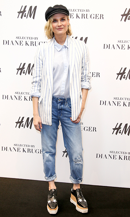 <p>Diane Kruger was the picture of cool while celebrating the launch of her 'H&M Selected by Diane Kruger' collection at Mall of Berlin.</p>
