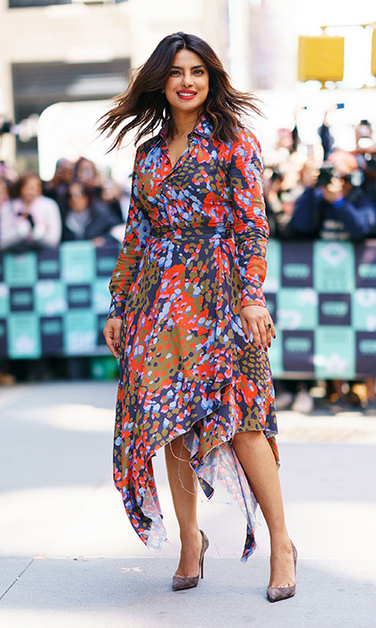 <p>We can't get enough of Priyanka Chopra's amazing sense of style! The <em>Quantico</em> star took colour to the next level while at AOL Build on April 26.</p>