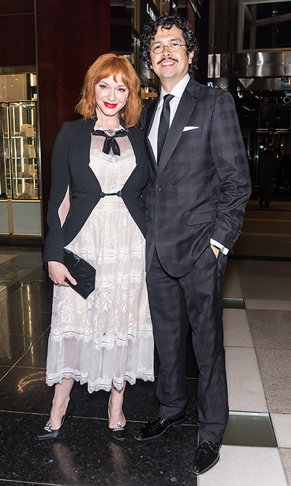 <p>Christina Hendricks and her husband Geoffrey Arend enjoyed a stylish date night on April 25 in NYC.</p>