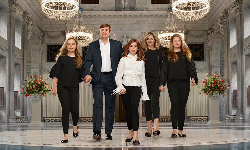 The Dutch royal family had a very Hollywood moment in their latest photoshoot, marking King Willem-Alexander's five years on the throne. In a series of Photos that could give the Kardashians a run for their money, the beautiful family can be seen posing in the palace in chic attire with their shiny locks swept up in the wind. The pictures were taken in Amsterdam last month by Erwin Olaf.