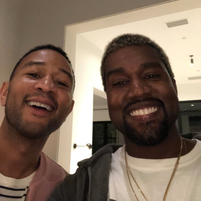 <p>John Legend and Kanye West cooled off from their heated Twitter exchange by hanging out. The music icons put their differences aside at a surprise baby shower for Chrissy Teigen hosted by Kim Kardashian.</p> 