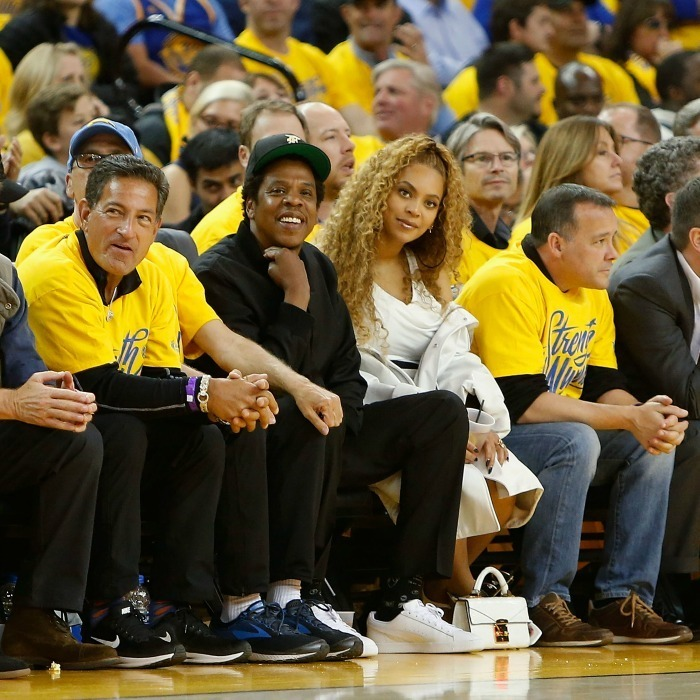 <p>Barely a week after #Beychella, Beyoncé and Jay-Z enjoyed a court side date night at the semifinals playoff game between the New Orleans Pelicans and the Golden State Warriors at Oracle Arena on April 28 in California.</p>