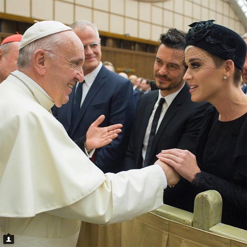 "<p>Katy Perry and her reported beau Orlando Bloom had an unforgettable experience in Vatican City, where they met the Pope. Clad in a chic black dress and a veiled pillbox hat, the singer shared a photo on social media along with the caption: ""Honored to be in the presence of His Holiness @franciscus' compassionate heart and inclusivity. Thank you to @meditationbob and #TheCuraFoundation for making it all possible.❤️#UniteToCure""</p>