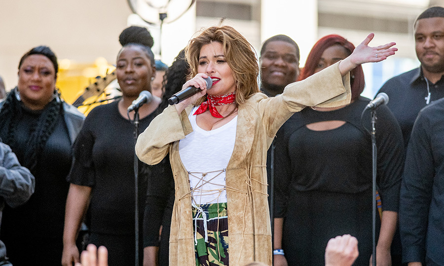 Shania Twain made a stylish appearance to perform on <em>Today</em> on April 30.