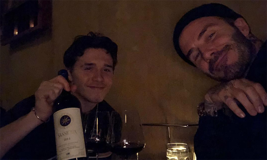 "<p>Happy birthday, David Beckham! His son, Brooklyn, surprised him with a visit for his birthday, taking to Instagram with this sweet father-son snap. ""Happy birthday dad xx I love you to the moon and back,"" he wrote.</p>