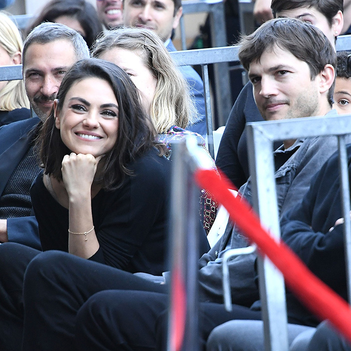 <p>Zoe's pals Mila Kunis and Ashton Kutcher were there to cheer her on!