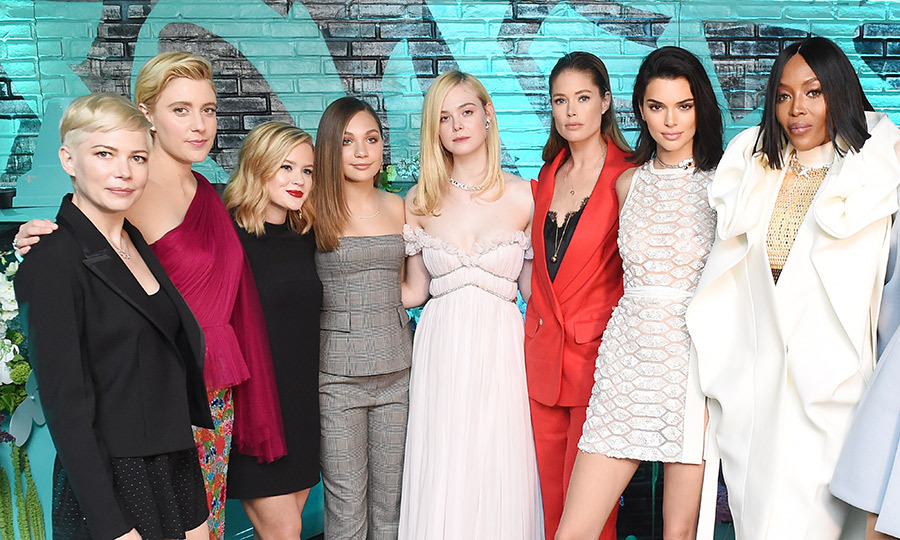 <p>#GirlSquad! Michelle Williams, Greta Gerwig, Ava Phillippe, Maddie Ziegler, Elle Fanning, Doutzen Kroes, Kendall Jenner and Naomi Campbell all attended a Tiffany's event in support of the Believe In Dreams campaign launch on May 3.