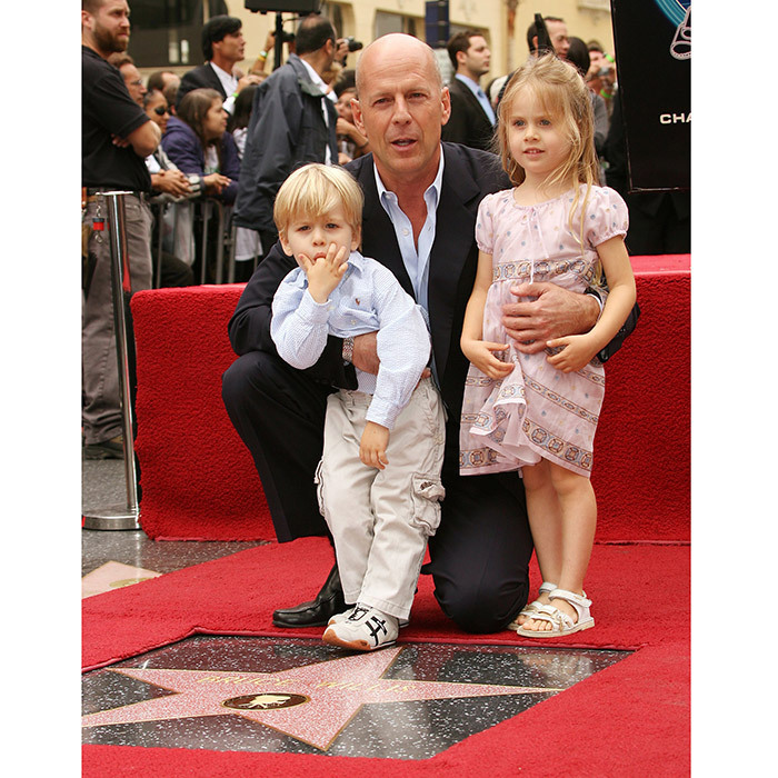 <p>Bruce Willis was accompanied not just by his own children but also by his niece Sofia Willis and 2-year-old nephew Trajan Willis when he got his star in October 2006.</p>