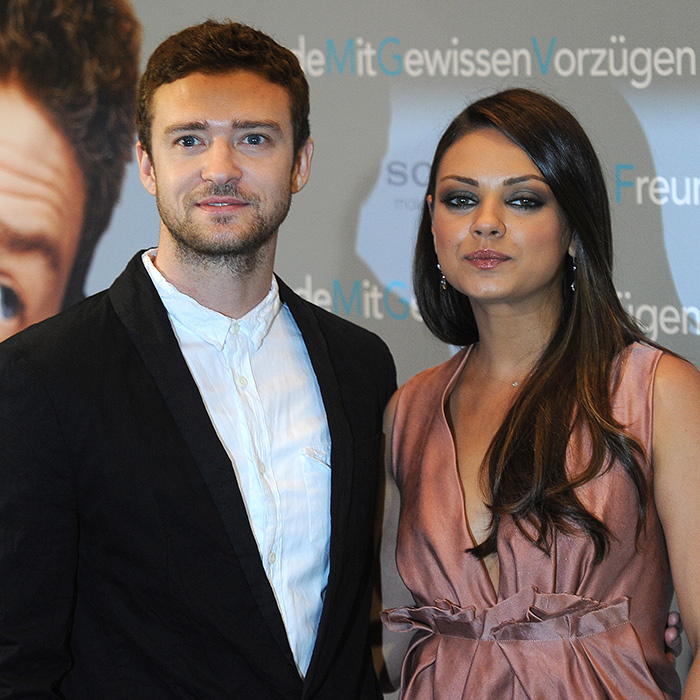<h2>Justin Timberlake and Mila Kunis</h2>