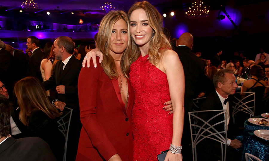 <h2>Jennifer Aniston and Emily Blunt</h2>