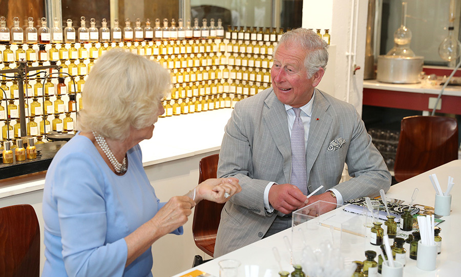 <p>Prince Charles and Camilla tested out some fragrances at Parfumerie Fragonard laboratory plant near Nice on May 7.</p>