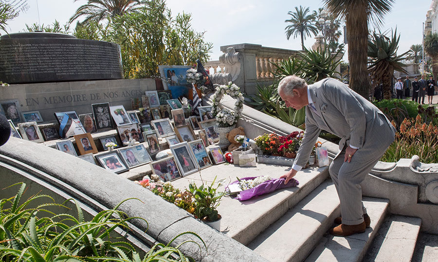 <p>Prince Charles paid his respects by laying a wreath for the victims of the Nice attacks on May 7.</p>