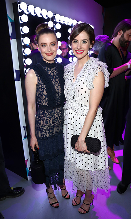 <p>Gillian Jacobs and Alison Brie put their best fashion feet forward for the Netflix FYSee Kick Off Party at LA's Raleigh Studios on May 6.</p>