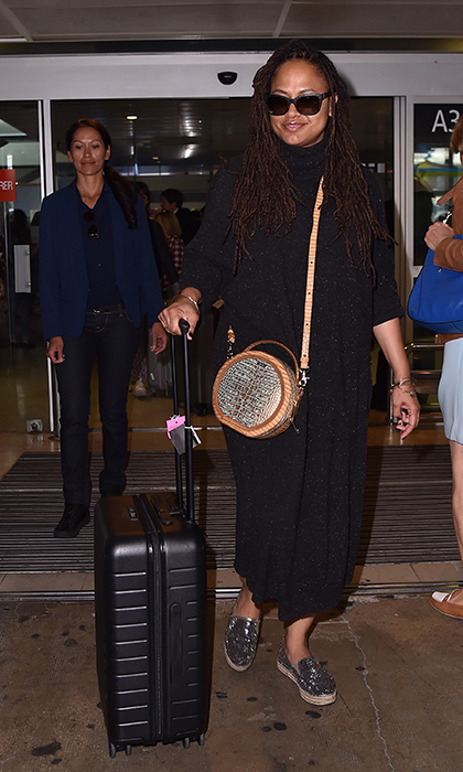 <p>Ava DuVernay was beautiful in black while arriving in France for the annual film festival.</p>
