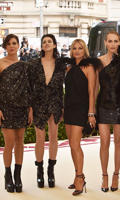 <h2>Charlotte Casiraghi, Charlotte Gainsbourg, Kate Moss and Amber Valetta</h2>