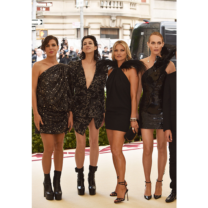 Charlotte Casiraghi was in great company with the Anthony Vaccarello squad, including Charlotte Gainsbourg, Kate Moss and Amber Valletta. 