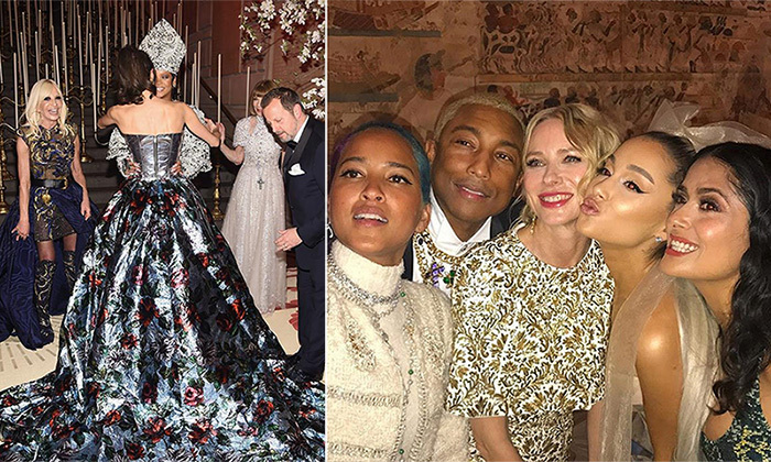 "The photos from the <a href=""/tags/0/met-gala/"">Met Gala</a>'s red carpet are celebrated around the world, and this year's <em>Heavenly Bodies: Fashion & the Catholic Imagination</em> brought out a <a href=""https://ca.hellomagazine.com/fashion/02018050744885/met-gala-2018-best-red-carpet-looks"">bevy of over-the-top ensembles</a> (<a href=""https://ca.hellomagazine.com/fashion/02018050844893/met-gala-2018-wildest-veils-headdresses"">and headdresses!</a>). But the true magic happens behind the scenes, at the $30,000-per-plate dinner and a host of fashionable after-parties, where stars like <strong>Rihanna</strong>, <strong>Naomi Watts</strong>, <strong>Ariana Grande</strong>, <strong>Emma Stone</strong> and more can really let loose. Here's we've rounded up the best behind-the-scenes party pics, candids and Instagram snaps."