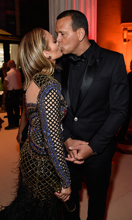 Star pair Jennifer Lopez and Alex Rodriguez packed on the PDA at the Heavenly Bodies bash.