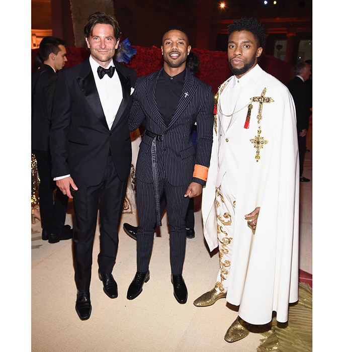 Hollywood heartthrobs Bradley Cooper, Michael B. Jordan, and Chadwick Boseman were a very stylish (and handsome!) trio as they mingled at the Gala. 