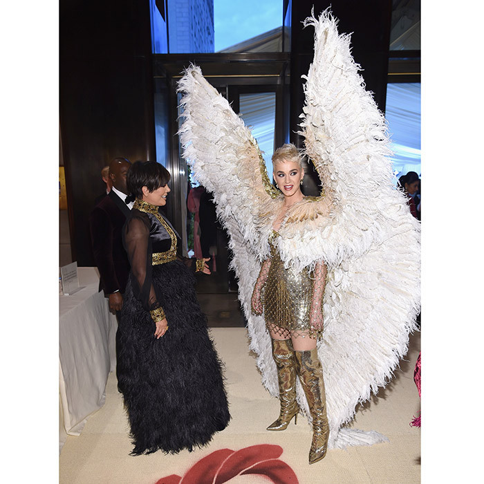 Let your imagination take flight! Kris Jenner was clearly impressed with a Versace-clad Katy Perry's spectacular wings.