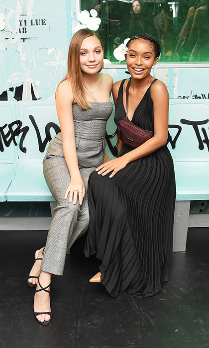 <p>The Tiffany Paper Flowers event was a night to remember, with stylish appearances by their star-studded roster. Dancer Maddie Ziegler and actress Yara Shahidi posed for a cute photo together.</p>