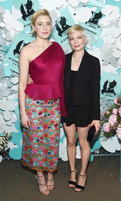 <p><em>Lady Bird</em> director Greta Gerwig and actress Michelle Williams were there, too, showing off their different but equally-as-chic fashion senses.</p>